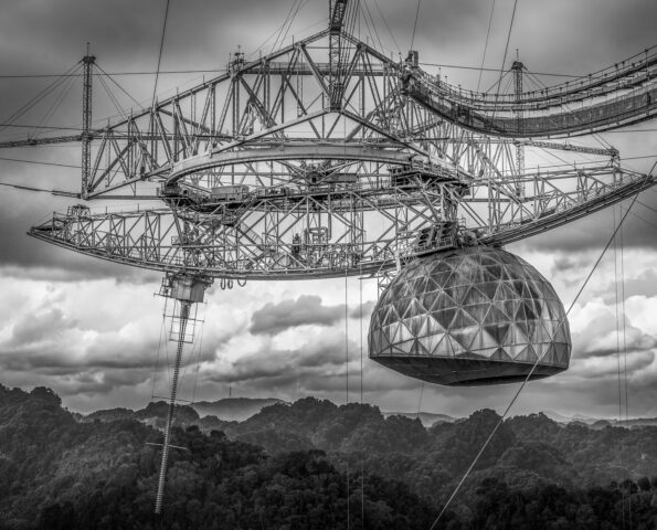 The Arecibo Observatory is the largest radio telescope in the municipality of Arecibo, Puerto Rico.